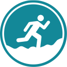 Trail-running icon