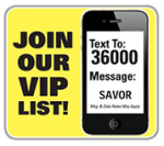 Join our VIP list logo