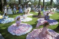 Azelea Belles on Lawn