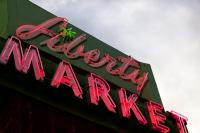 Liberty Market Sign Logo