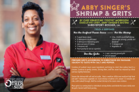 Shrimp and Grits recipe by Chef Tootie Morrison at Abby Singer's Bistro
