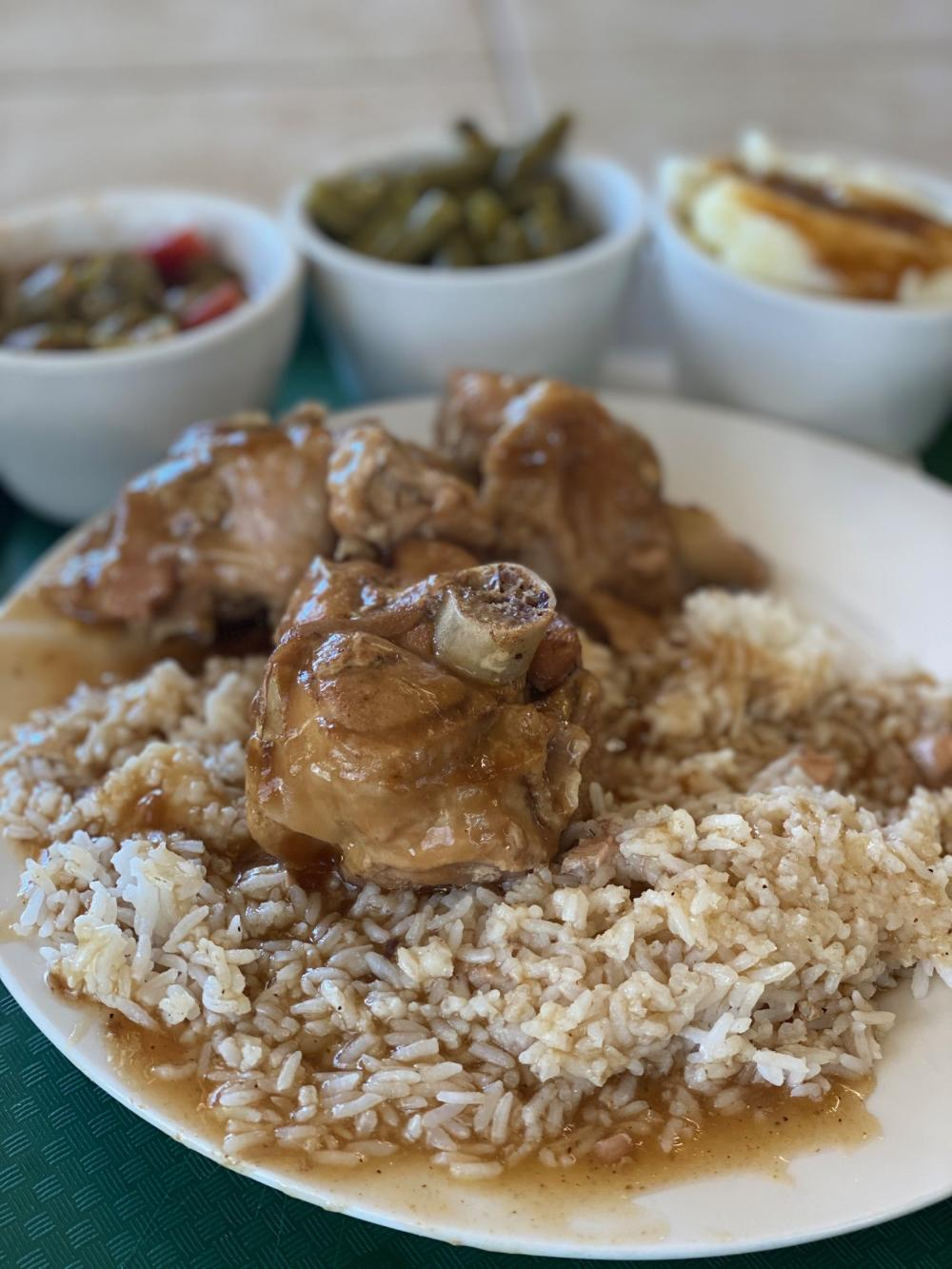 An old-school Southern favorite with all the fixings at Rosie's Soul Food.