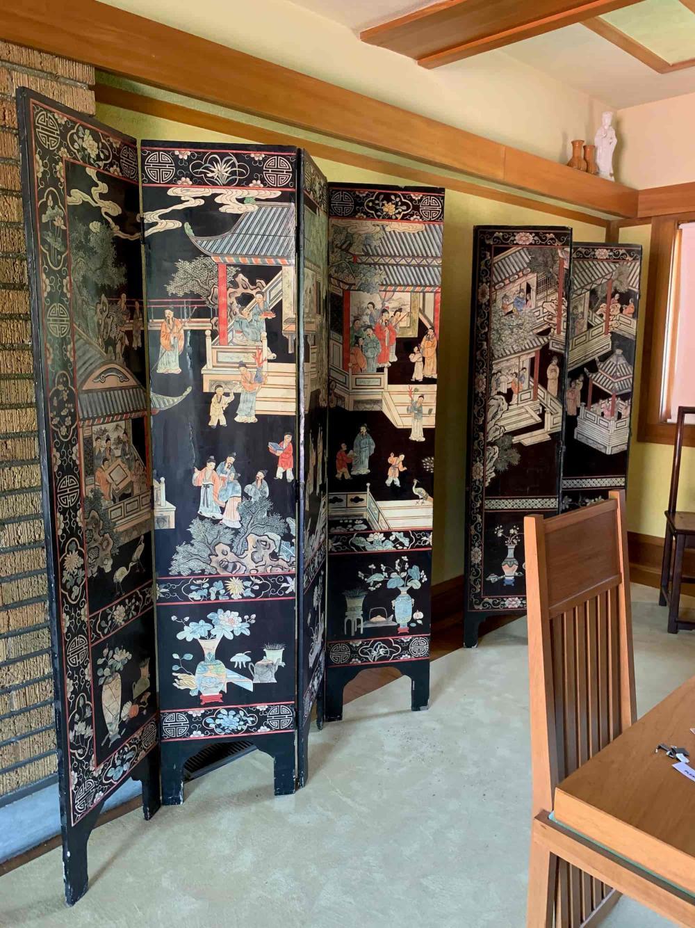 Original Coromandel Screen at Frank Lloyd Wright's Allen House