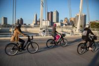 Women Riding Bikes in Columbus