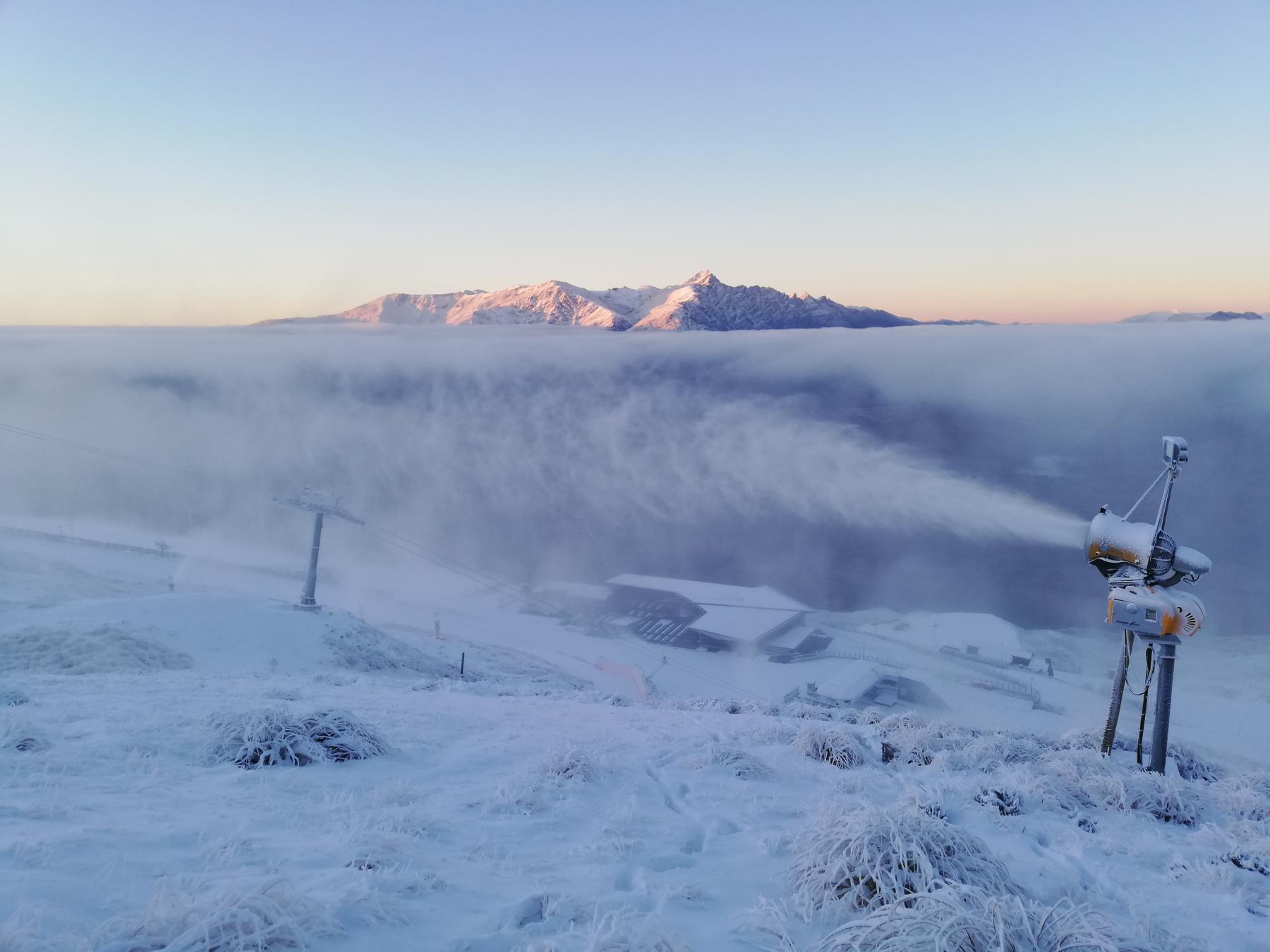 First snow Coronet Peak by Paul Jones