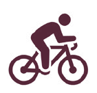 Biking Graphic - Burgundy