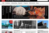 The Corning Museum of Glass has launched a redesigned website at http://www.cmog.org/. The site offers new content, increased access to the Museum's collection and new user-friendly features. The front page serves as a starting point to explore 35 centuries of glass art: the site now features thousands of videos, articles, images and resources on glass and glassmaking.