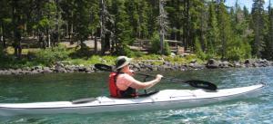 Kayaking Waldo Lake in the Cascades