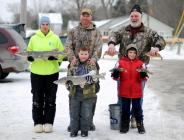 ENTER TO WIN – Sign up for the Sandy Pond Ice Fishing Derby at the Oswego County Festival on Saturday and Sunday, February 9 and 10. Registration begins at 6 a.m. at the Sandy Pond Steakhouse on Wigwam Drive in Sandy Creek. The cost is $10 for adults and $5 for children age 12 and younger. Prizes are awarded to the top pike and panfish combo for adults and youths. Photo by Jessica Burt.