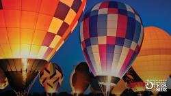 Balloon glow at Shreveport's Red River Balloon Rally