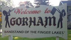 The welcome sign for the town of Gorham