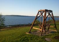 An Unforgettable Stay in the Puget Sound, swing chair with a view