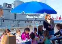 Children enjoying summer activities offered at the H. Lee White Marine Museum last summer.