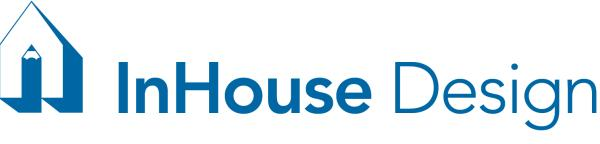 InHouse Design Logo - Blue and white
