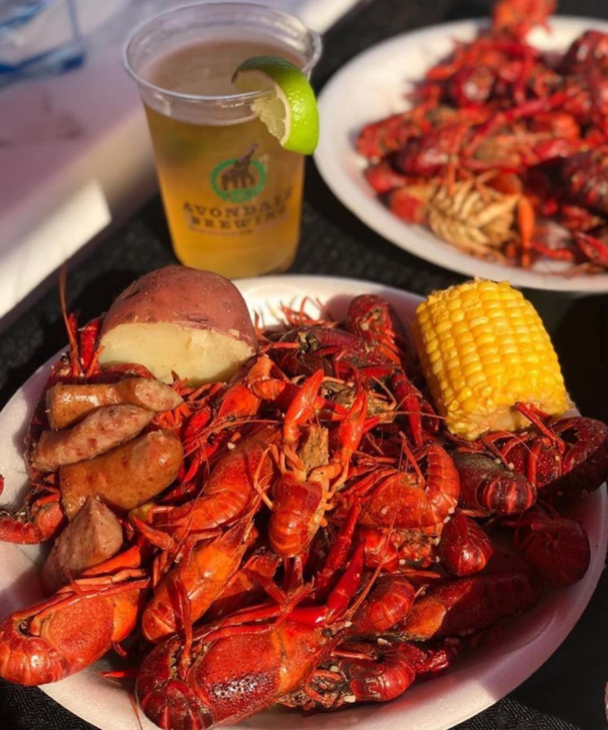 Crawfish boil at Cajun Steamer Bar & Grill in Huntsville