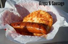 Arepas & sausage
