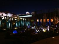 Chihuly Garden and Glass in Seattle night time