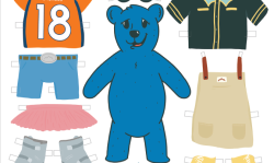 Blue Bear Paper Doll