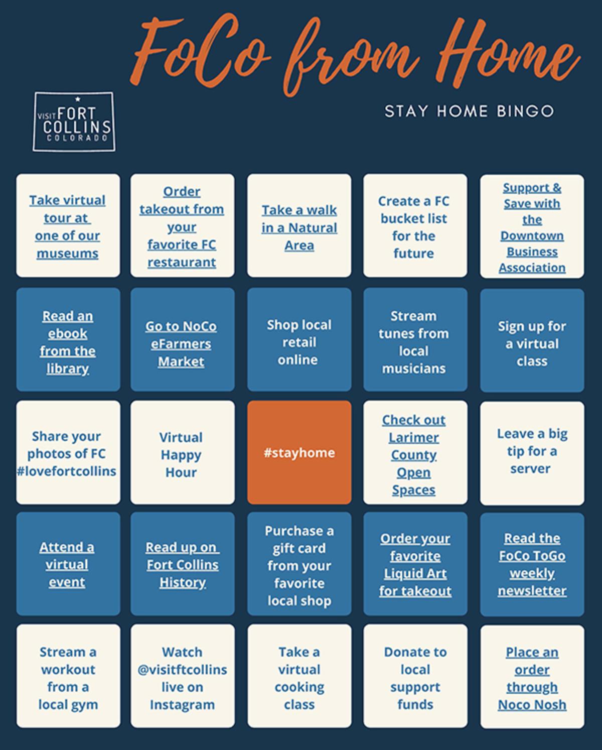 FoCo from Home Bingo