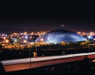 Tacoma Dome at night