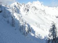 Snow covered slopes at Summit at Snoqualmie
