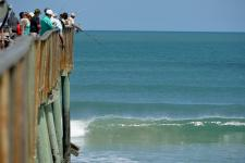 Pier fishing, a perfect vacation activity