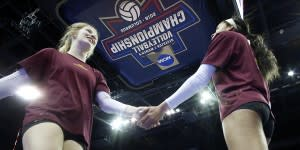 Volleyball teammates
