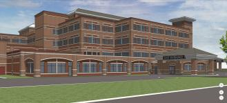 Rendering of the Pleasant Prairie Froedtert Cancer Center