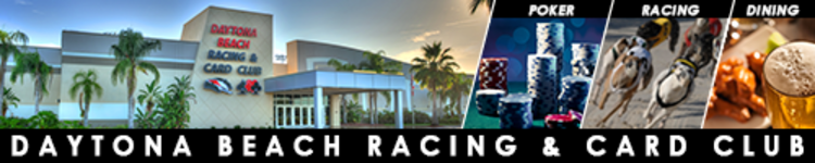 Daytona Beach Racing & Card Club Banner Ad
