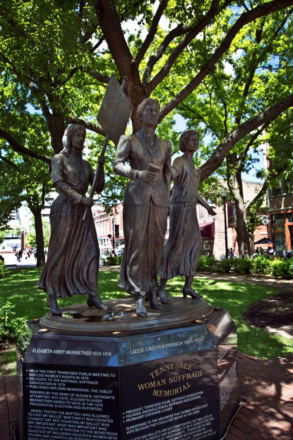 Tennessee Woman Suffrage Memorial, Market Square, Knoxville