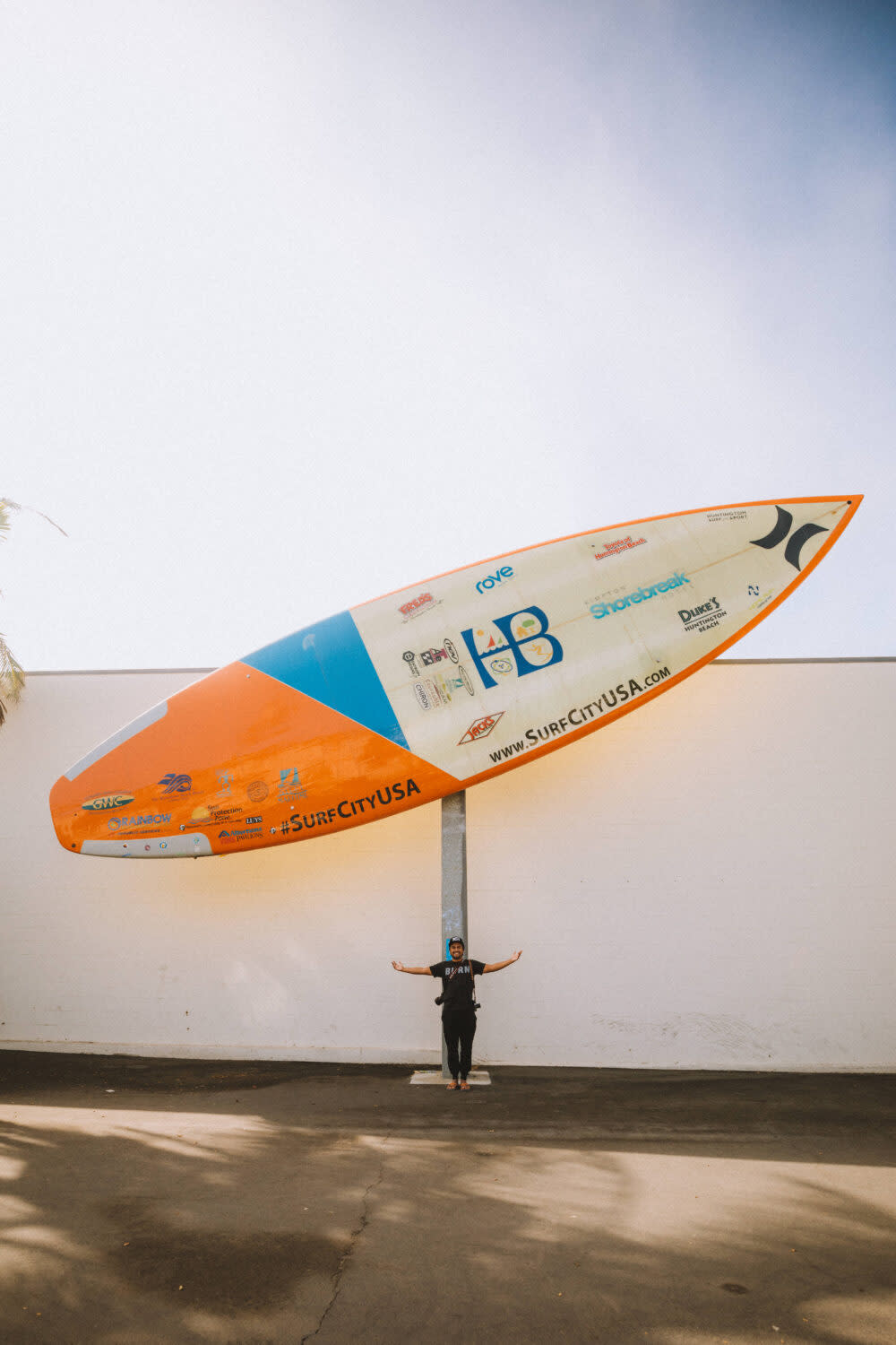 World's Largest Surfboard at Huntington Beach