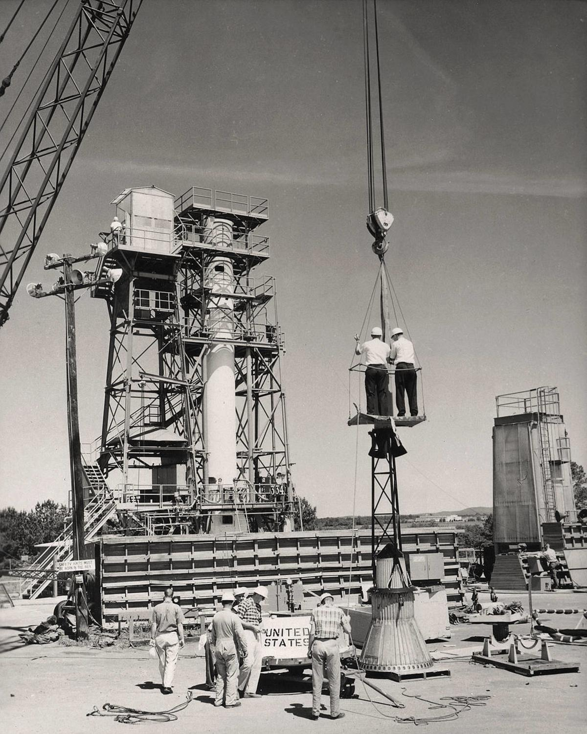 Construction at Redstone Test Stand MSFC Marshall Space Flight Center NASA