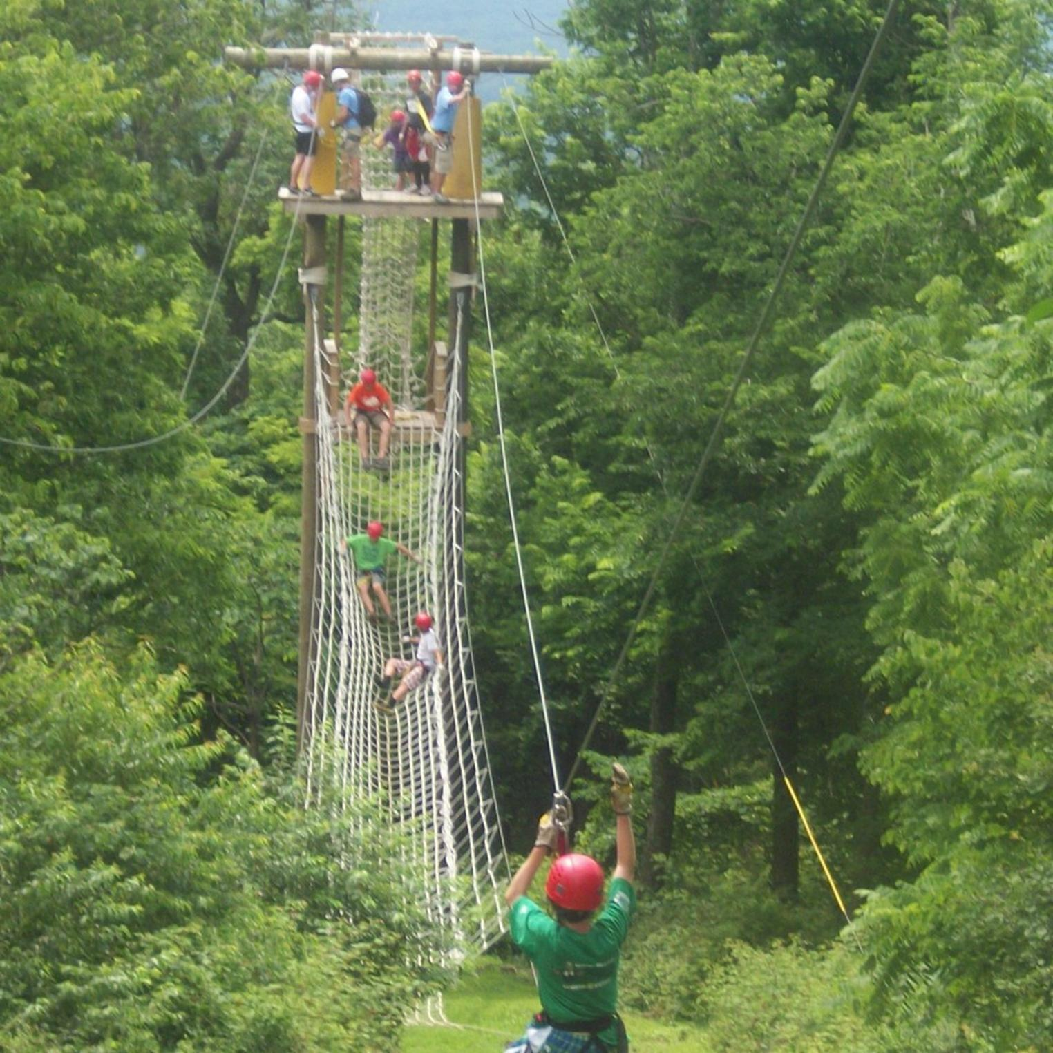Vertical Trek Zip Line Canopy Tour in Central PA at Roundtop Mountain Resort