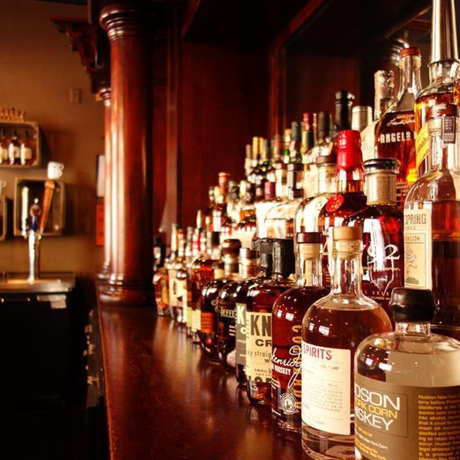 Checkout our extensive whiskey list at the bar.