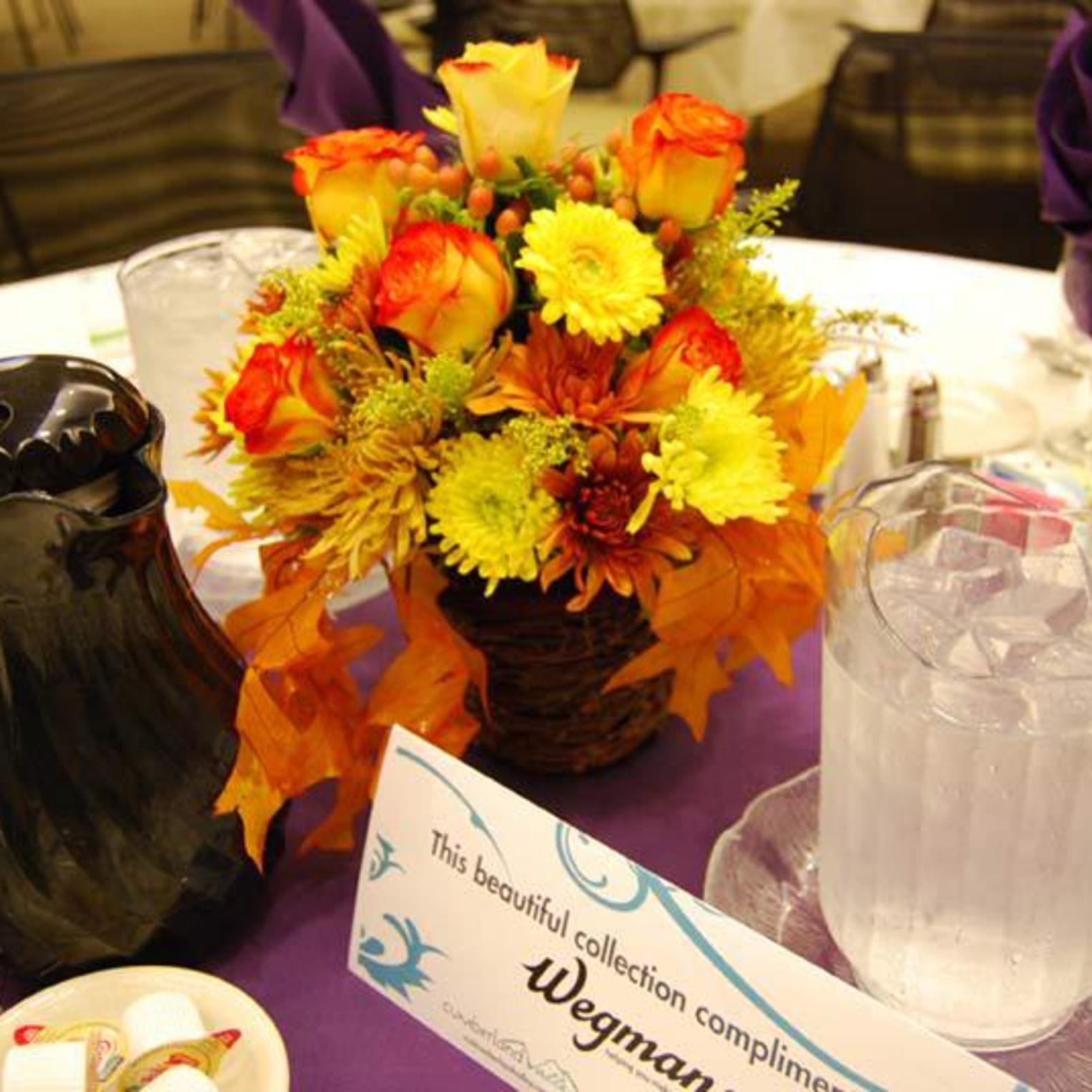 Wegman's Fall Banquet Centerpiece