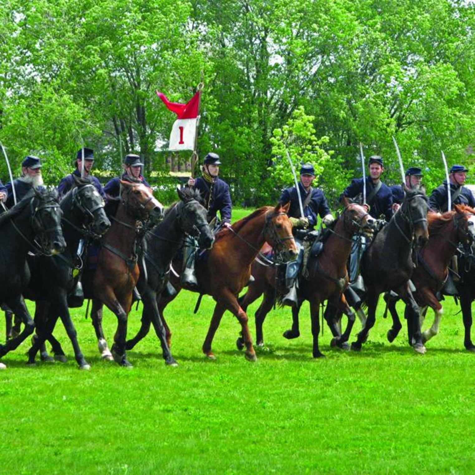 Civil War reenactment at Army Heritage Days at the U.S. Army Heritage & Education Center