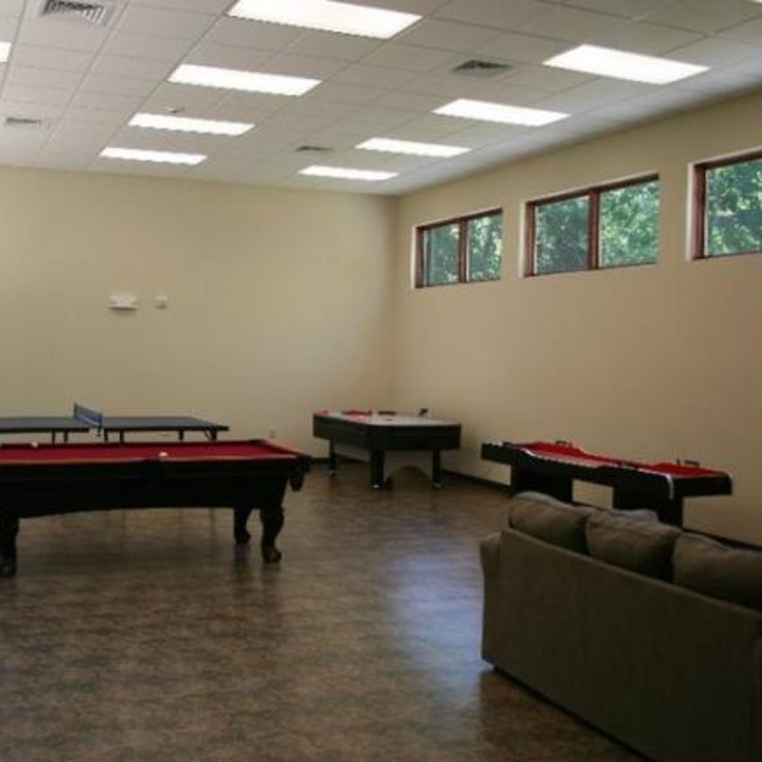 Game Room in the Asbury Lodge at Mount Asbury Retreat Center