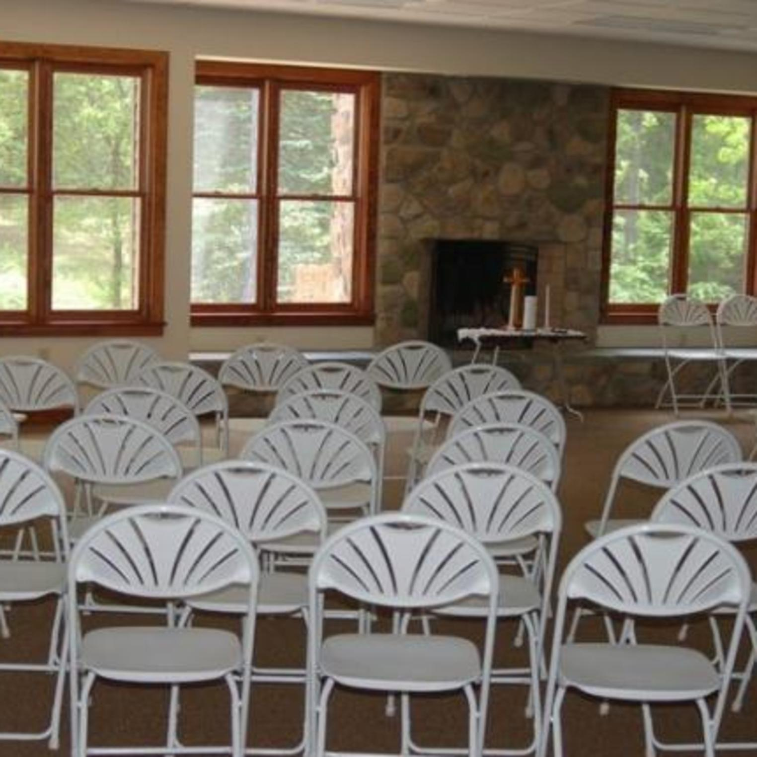 Theater or Wedding set up at Mount Asbury Retreat Center