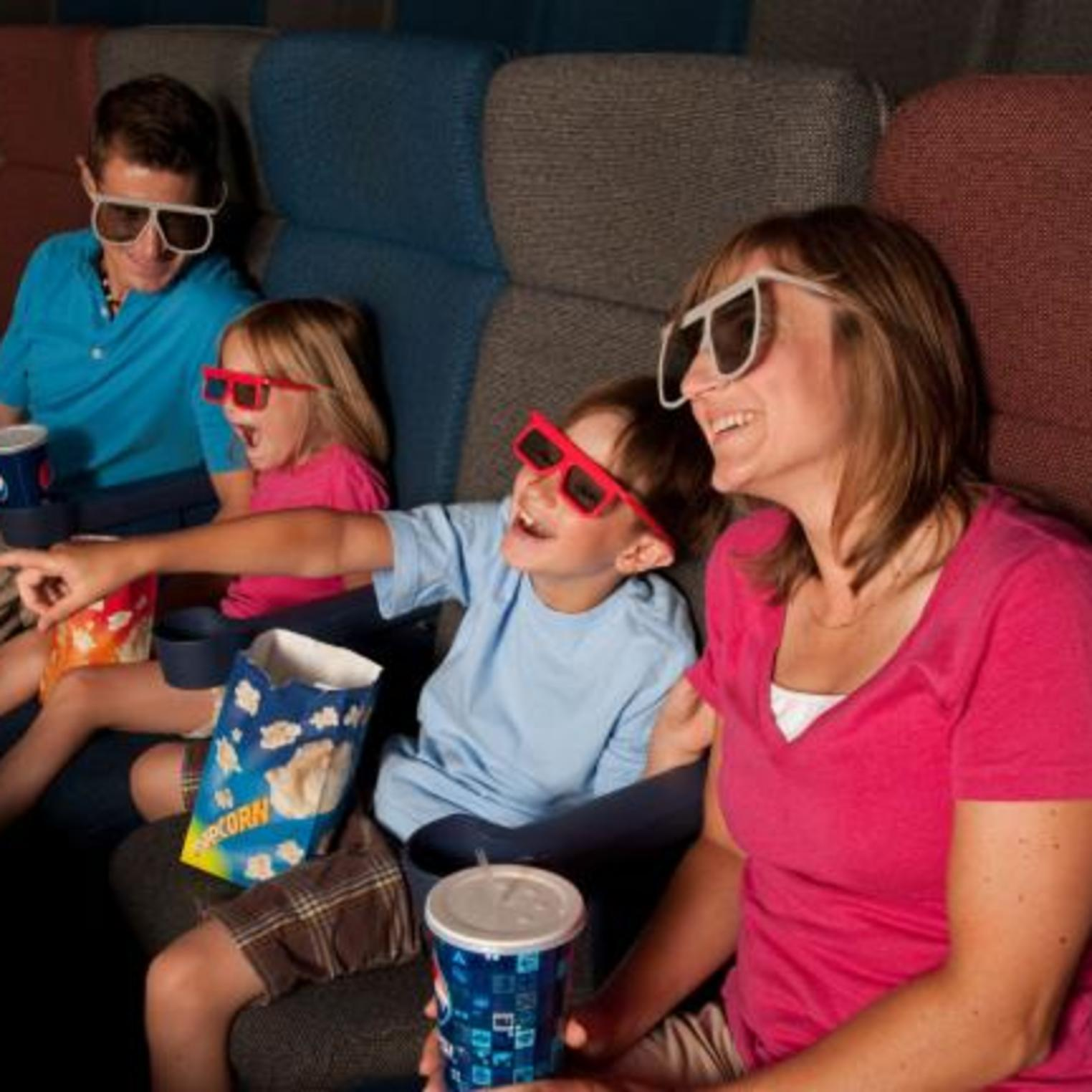 Enjoy a movie on the six-story IMAX screen!