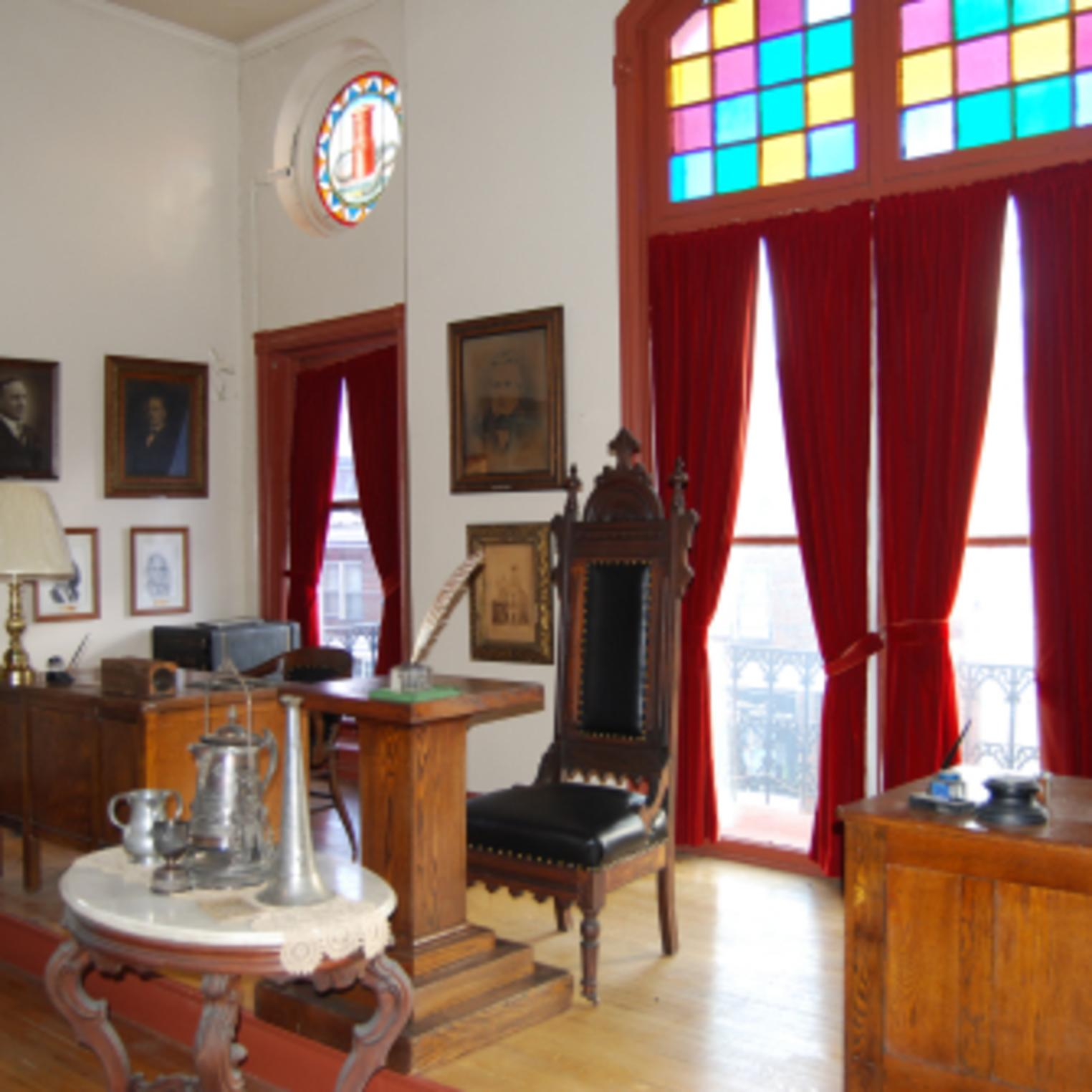 Historic Meeting Hall at the Union Fire Company No. 1 Museum