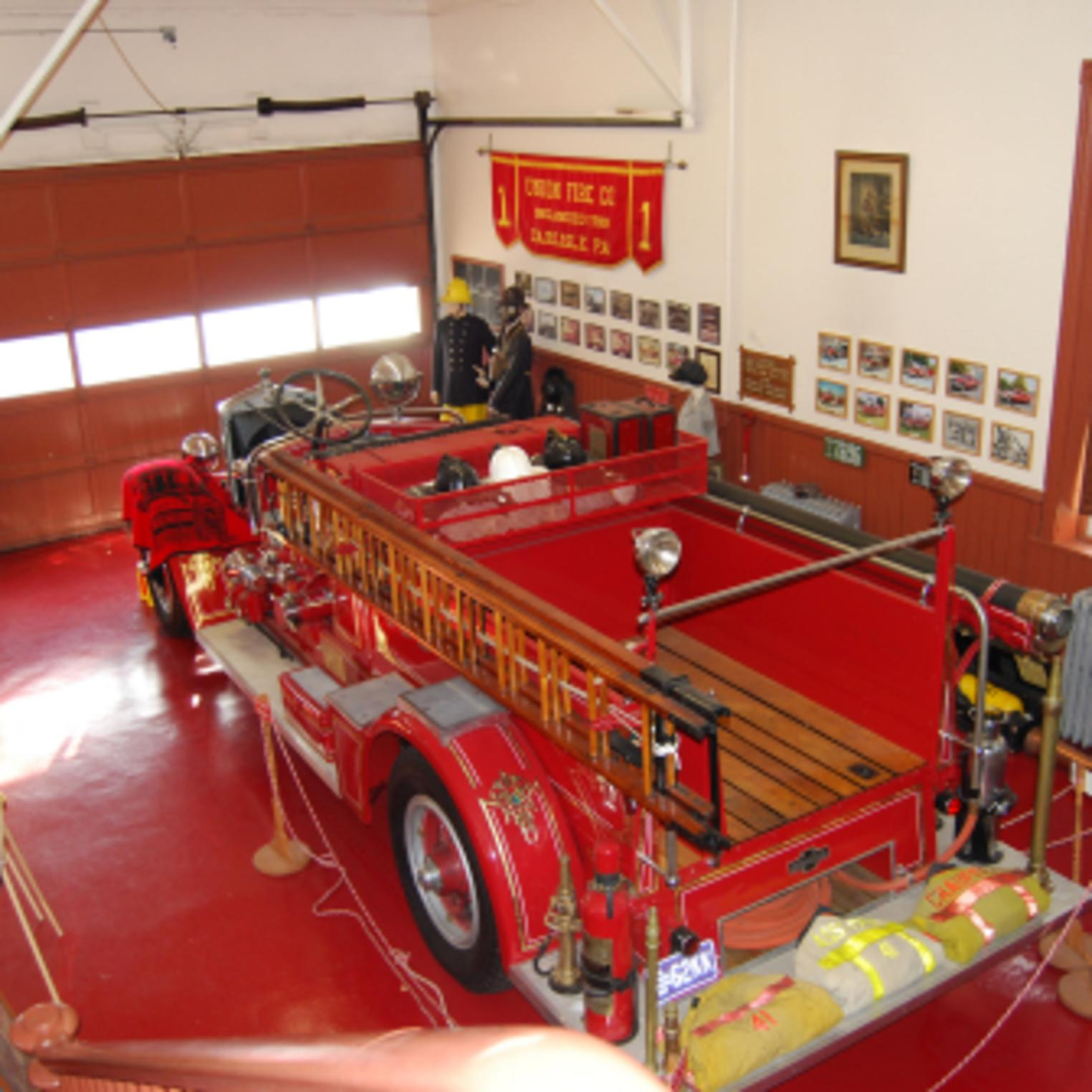 Firetruck Exhibit at the Union Fire Co. No. 1 Museum