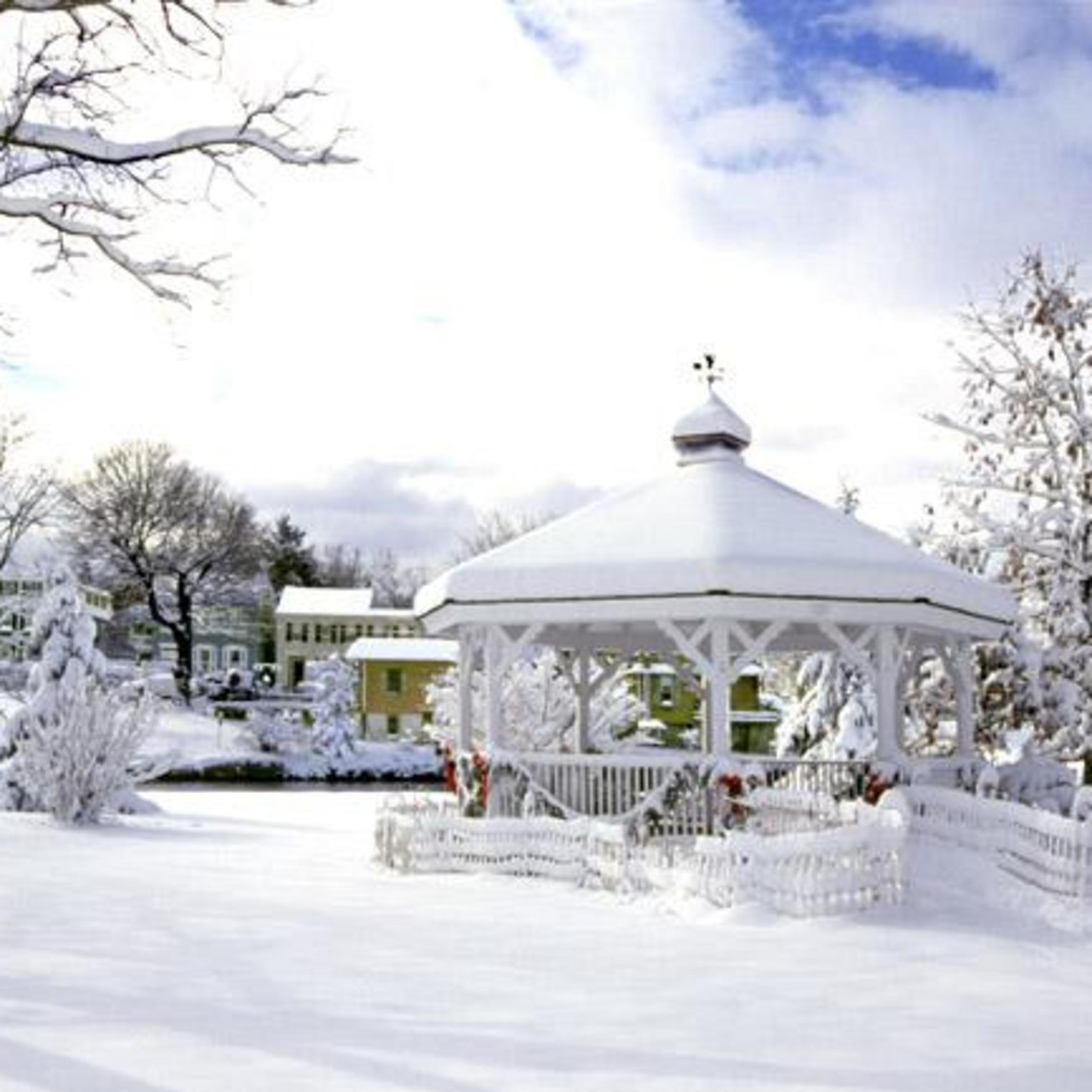 Winter gazebo at Children's Lake