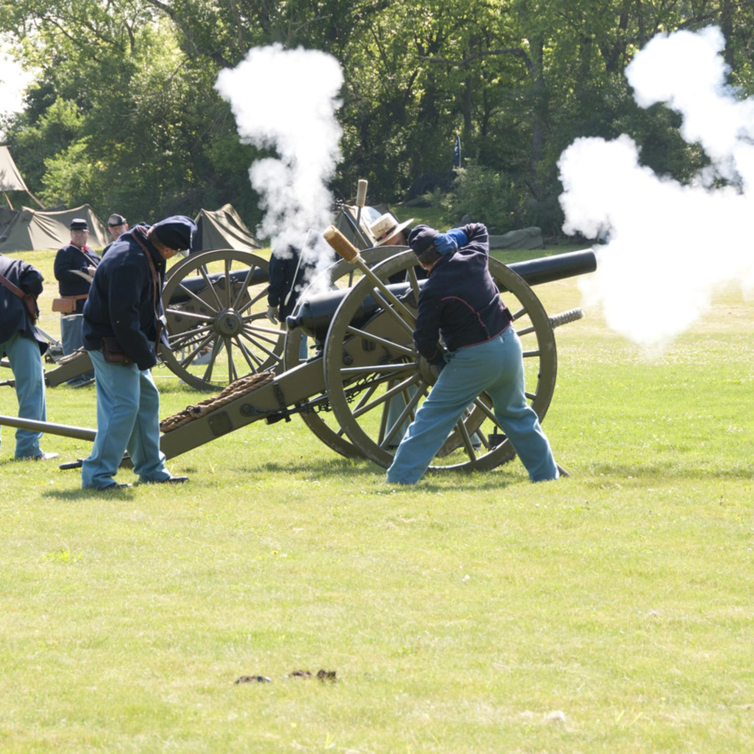 Artillery Demonstration at Army Heritage Days