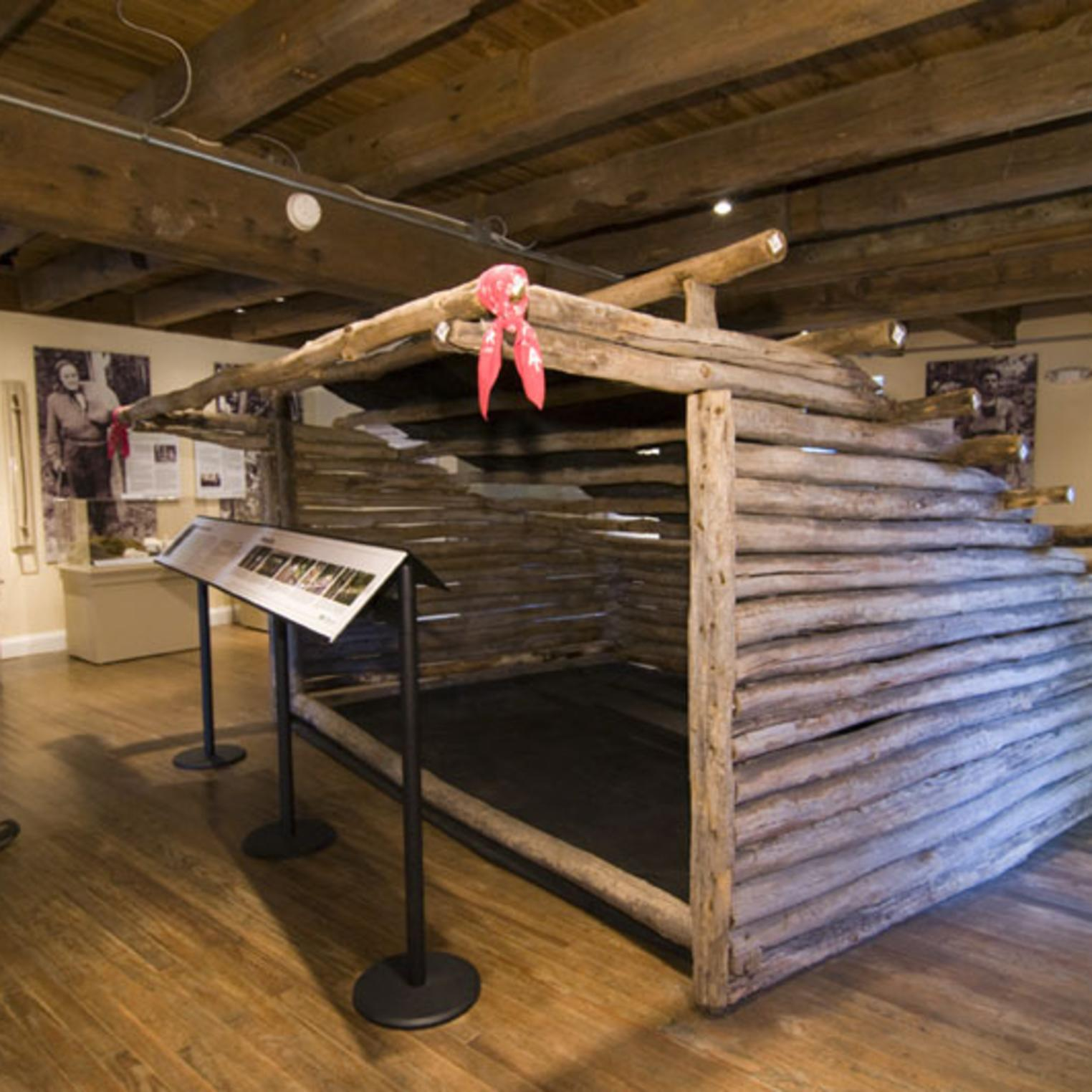 The Earl Shaffer shelter at the Appalachian Trail Museum