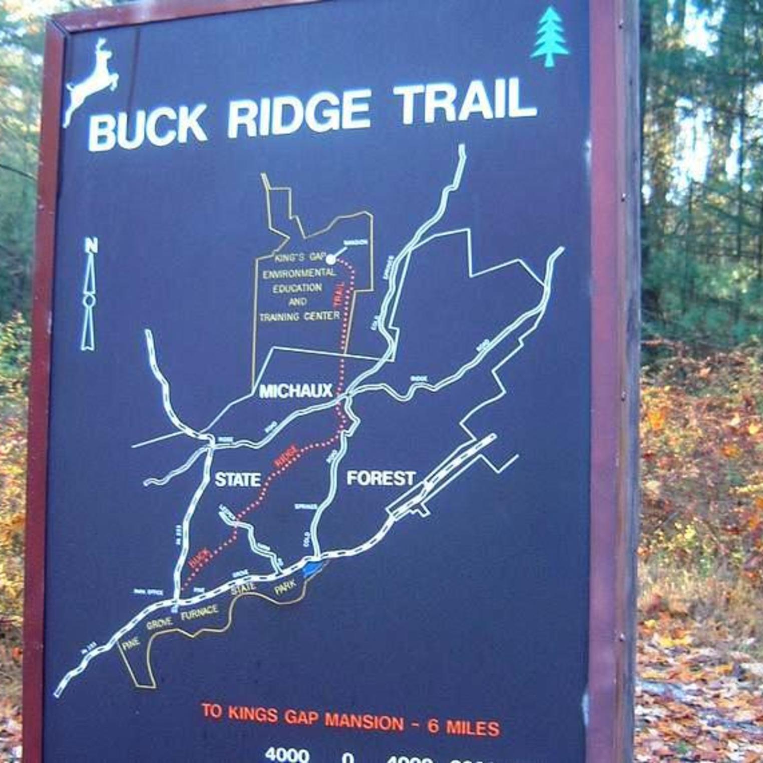 Buck Ridge Trail trailhead sign