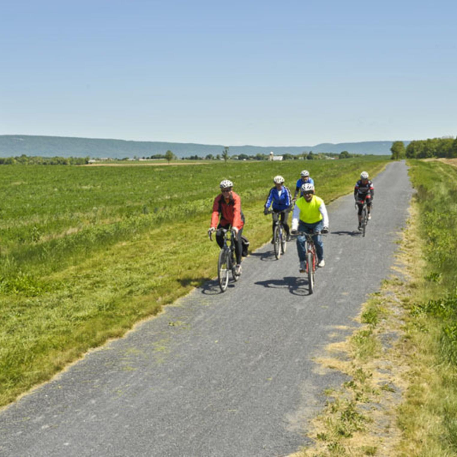 Biking on the Cumberland Valley Rail Trail