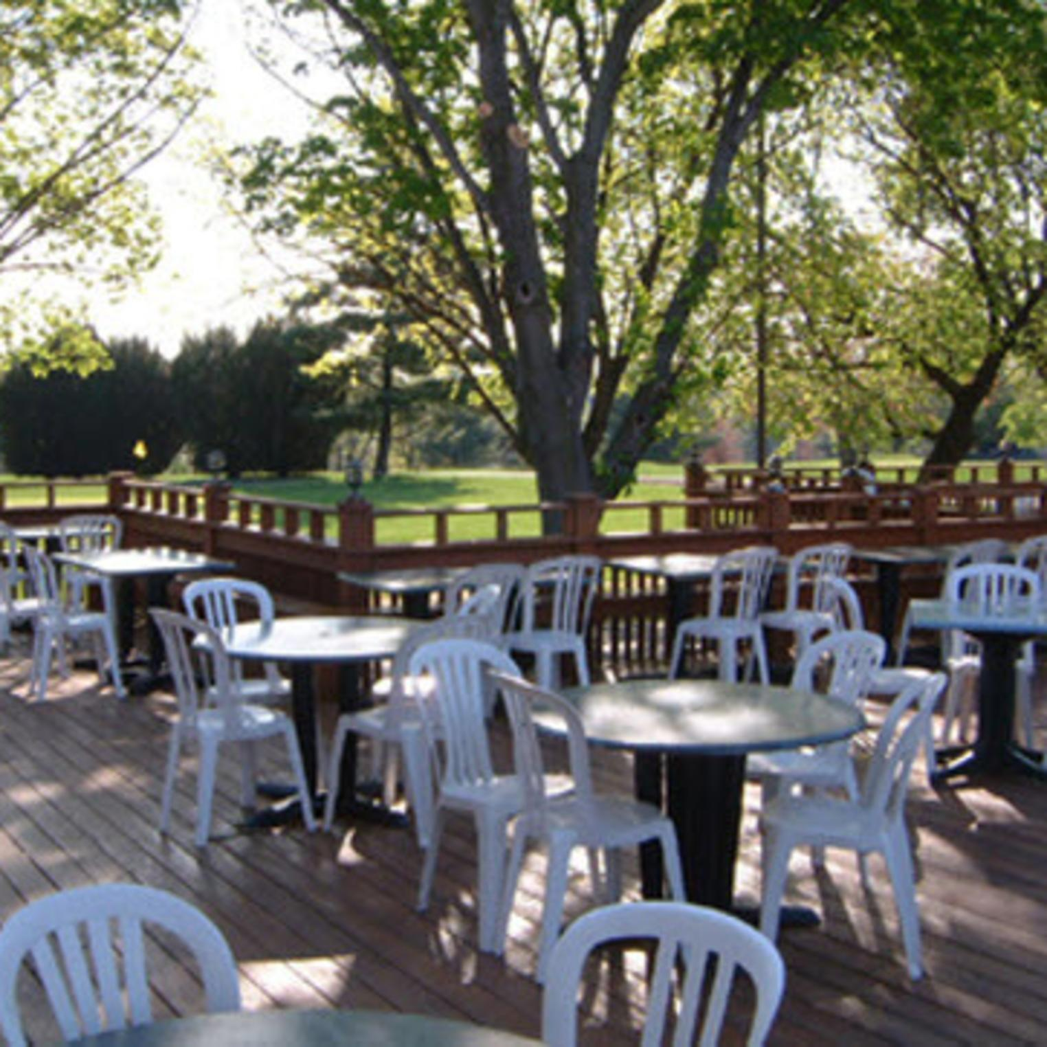 Caddy Shack's Deck Overlooking the Golf Course