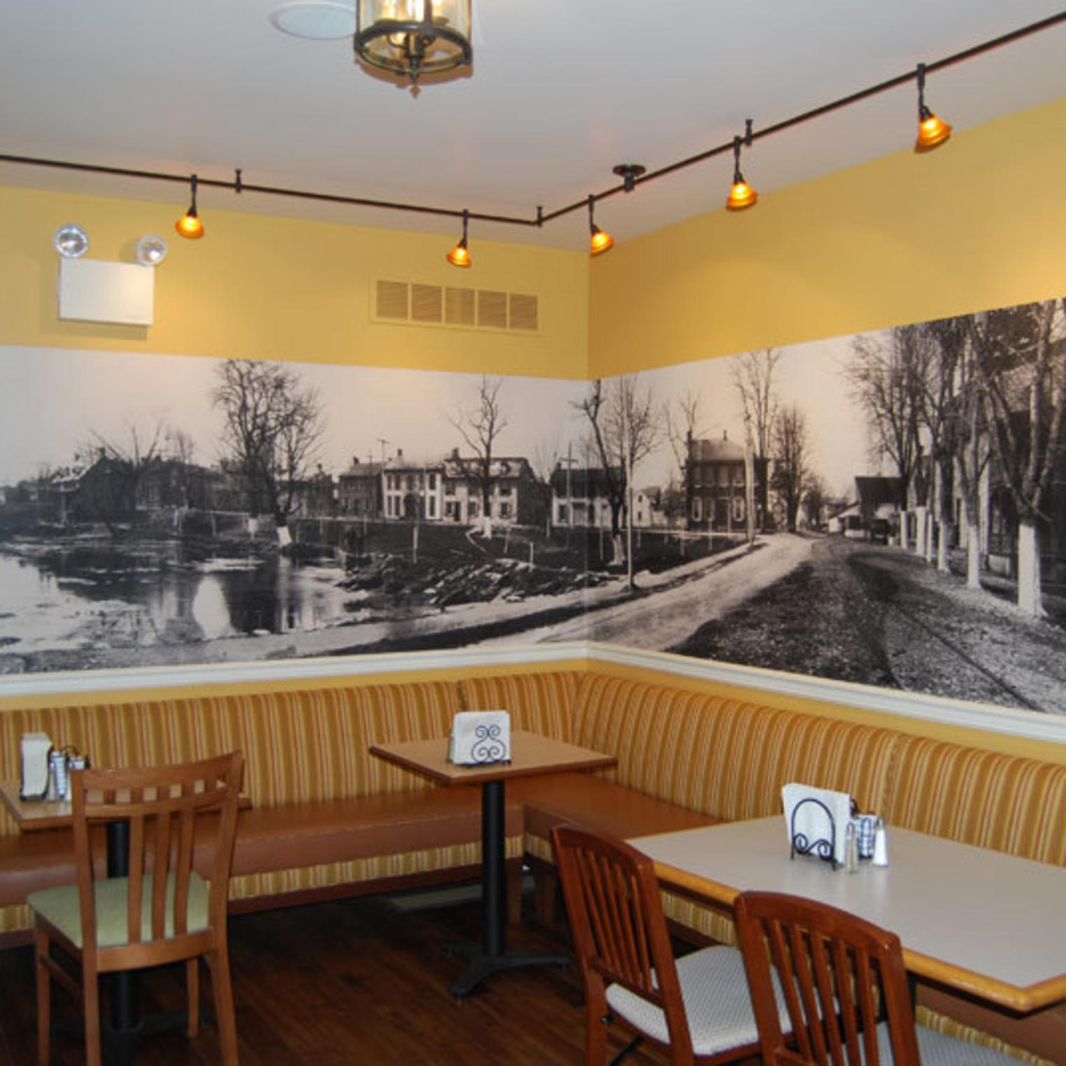 Boiling Springs Wall Mural at Caffe 101