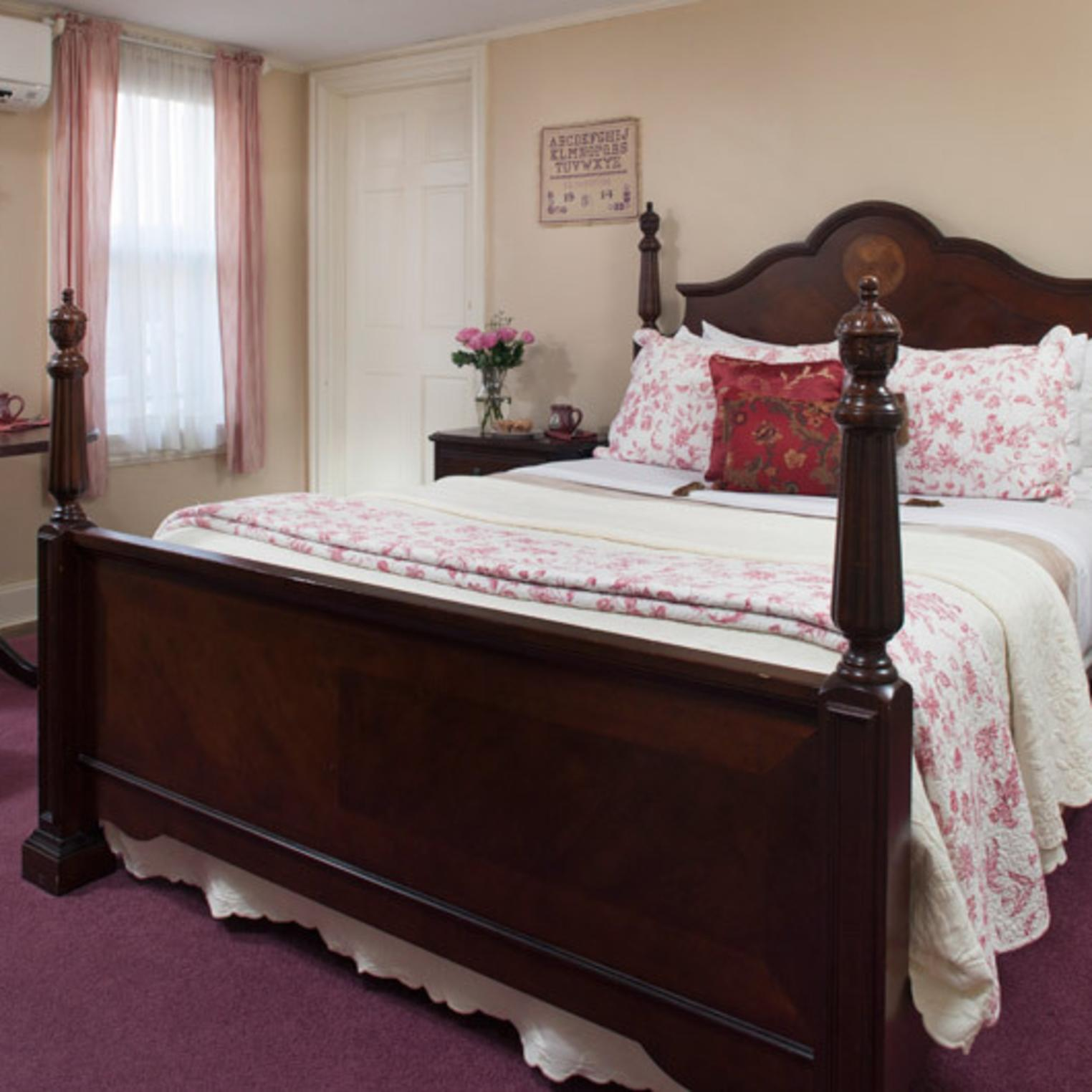 Queen-sized Bed in the Hayes Room
