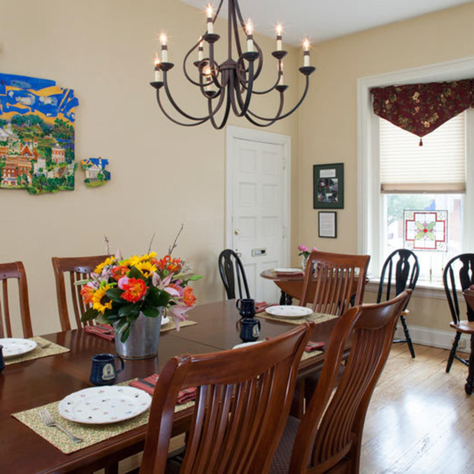Enjoy Breakfast in the Dining Room